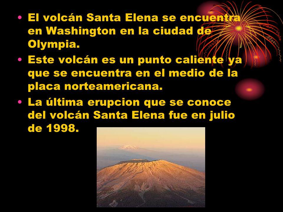 El volcán Santa Elena se encuentra en Washington en la ciudad de Olympia.