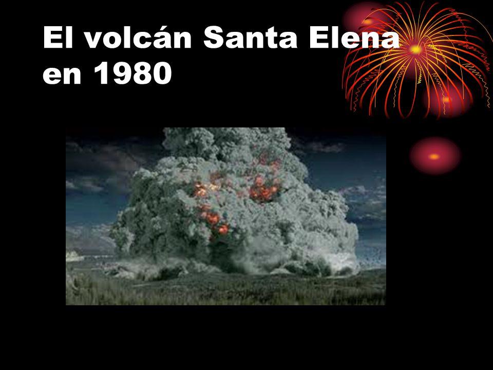 El volcán Santa Elena en 1980