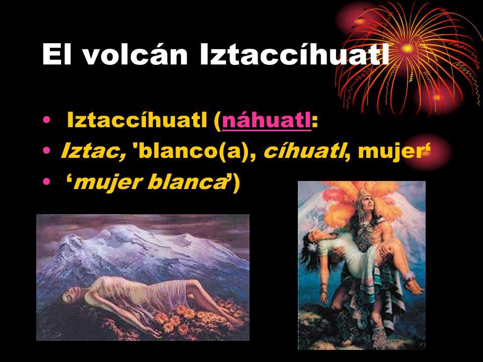 El volcán Iztaccíhuatl