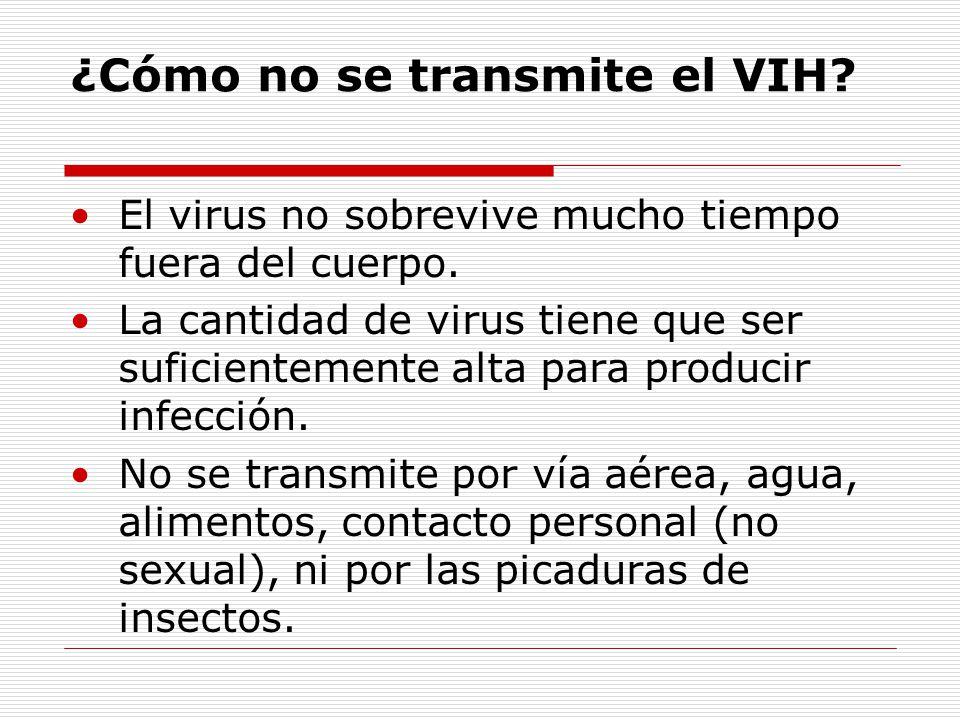 ¿Cómo no se transmite el VIH