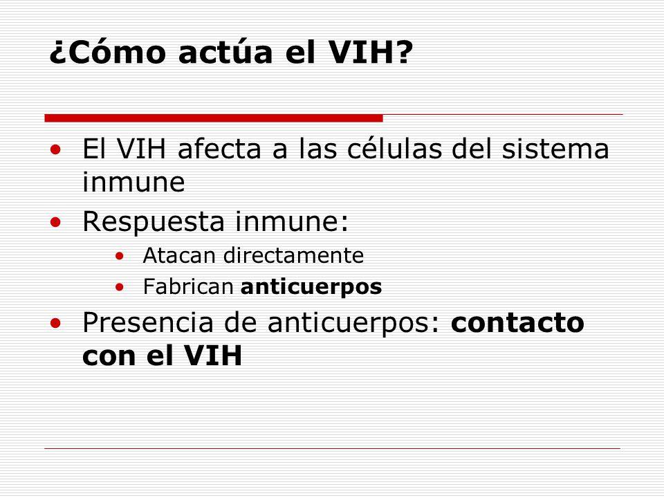 ¿Cómo actúa el VIH El VIH afecta a las células del sistema inmune