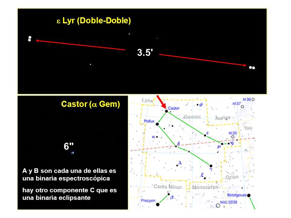 Sistema cuádruple 3.5 6  Lyr (Doble-Doble) Castor ( Gem)