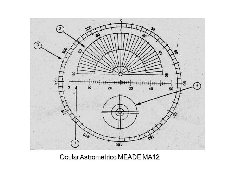 Material de medición Ocular Astrométrico MEADE MA12