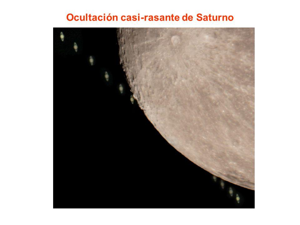 Ocultación casi-rasante de Saturno