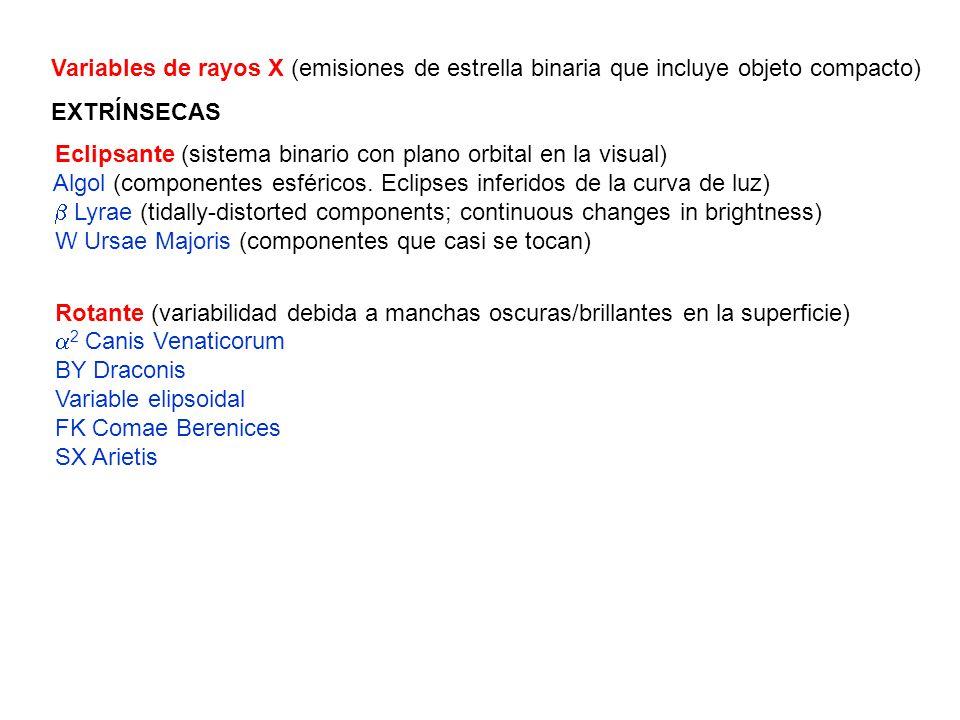 Variables de rayos X (emisiones de estrella binaria que incluye objeto compacto)