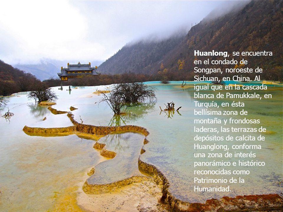 Huanlong, se encuentra en el condado de Songpan, noroeste de Sichuan, en China.