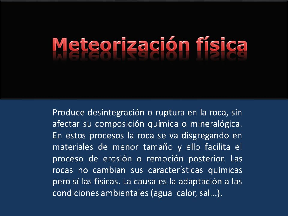Meteorización física