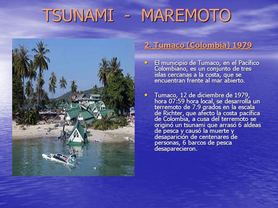 TSUNAMI - MAREMOTO 2. Tumaco (Colombia) 1979
