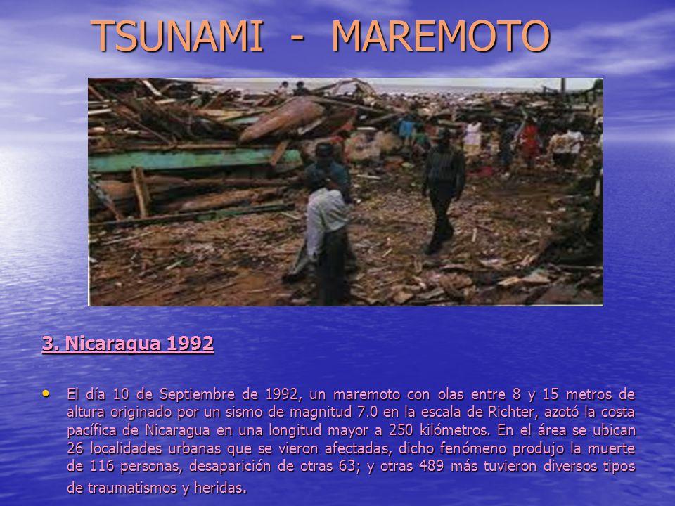 TSUNAMI - MAREMOTO 3. Nicaragua 1992