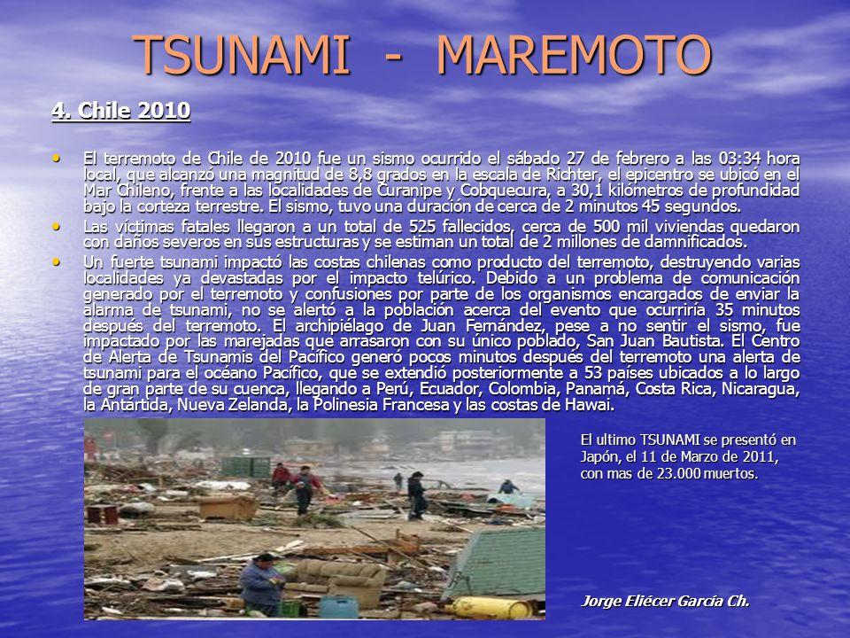 TSUNAMI - MAREMOTO 4. Chile 2010