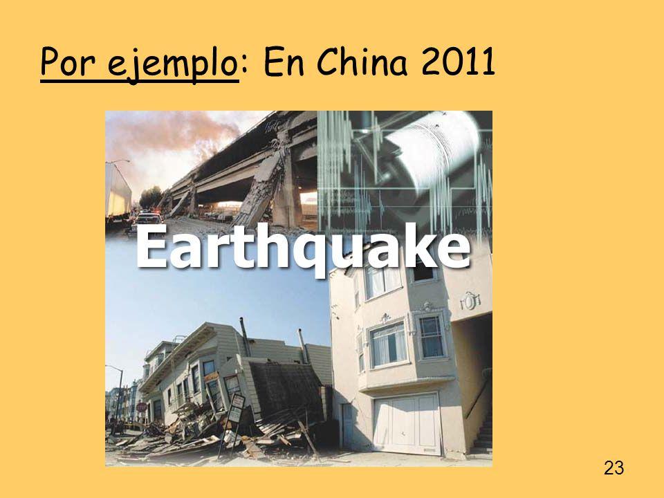 Por ejemplo: En China 2011