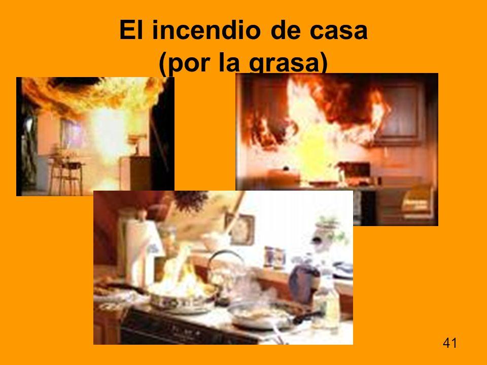 El incendio de casa (por la grasa)