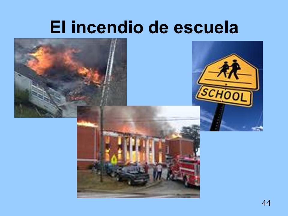 El incendio de escuela
