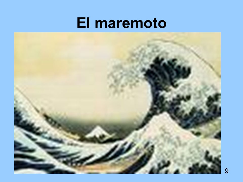 El maremoto