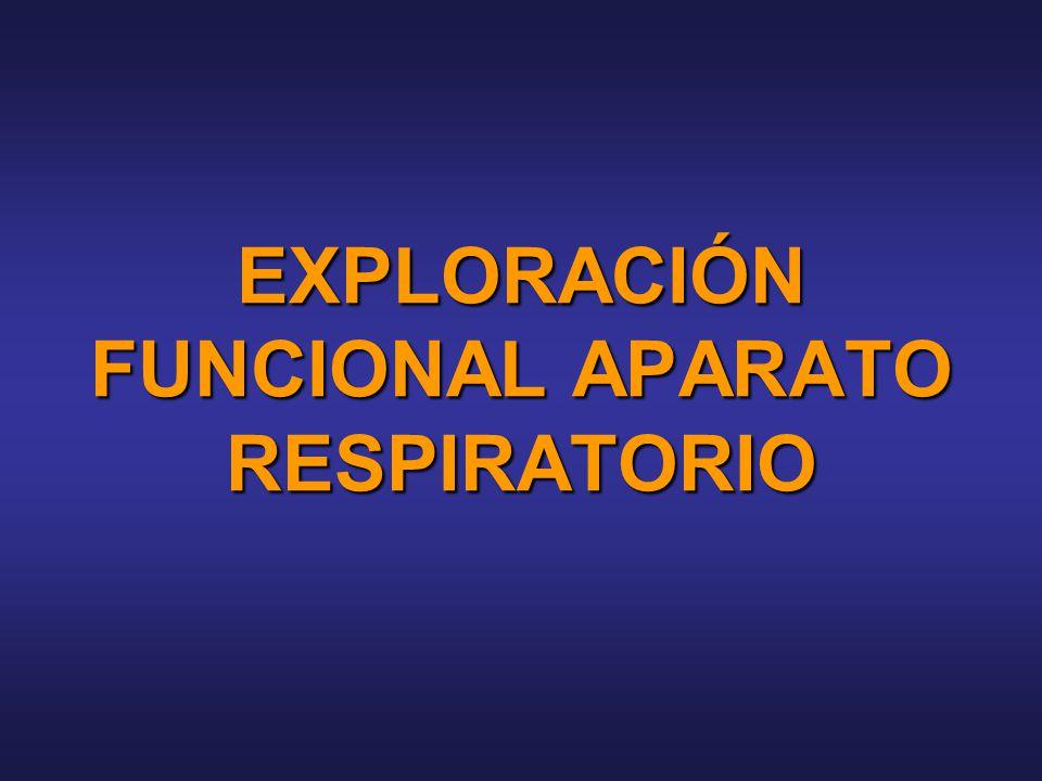 EXPLORACIÓN FUNCIONAL APARATO RESPIRATORIO