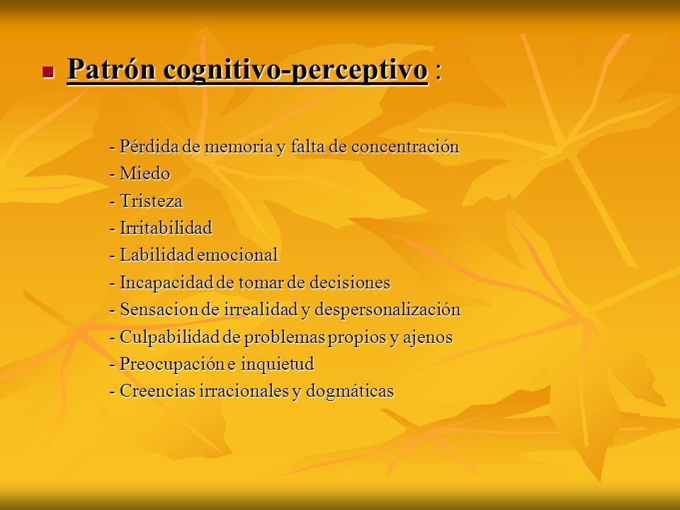 Patrón cognitivo-perceptivo :