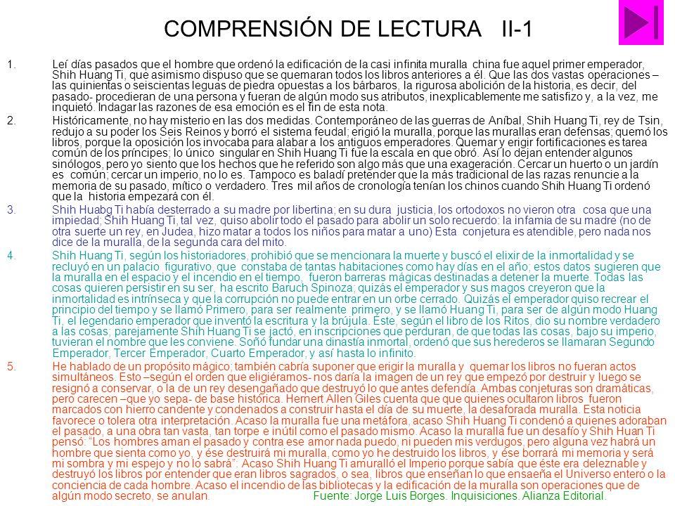 COMPRENSIÓN DE LECTURA II-1