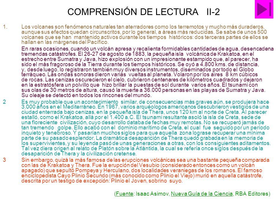 COMPRENSIÓN DE LECTURA II-2