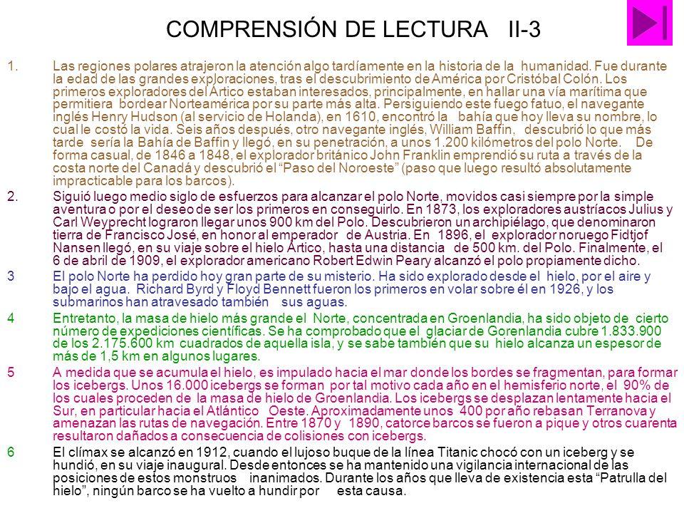 COMPRENSIÓN DE LECTURA II-3