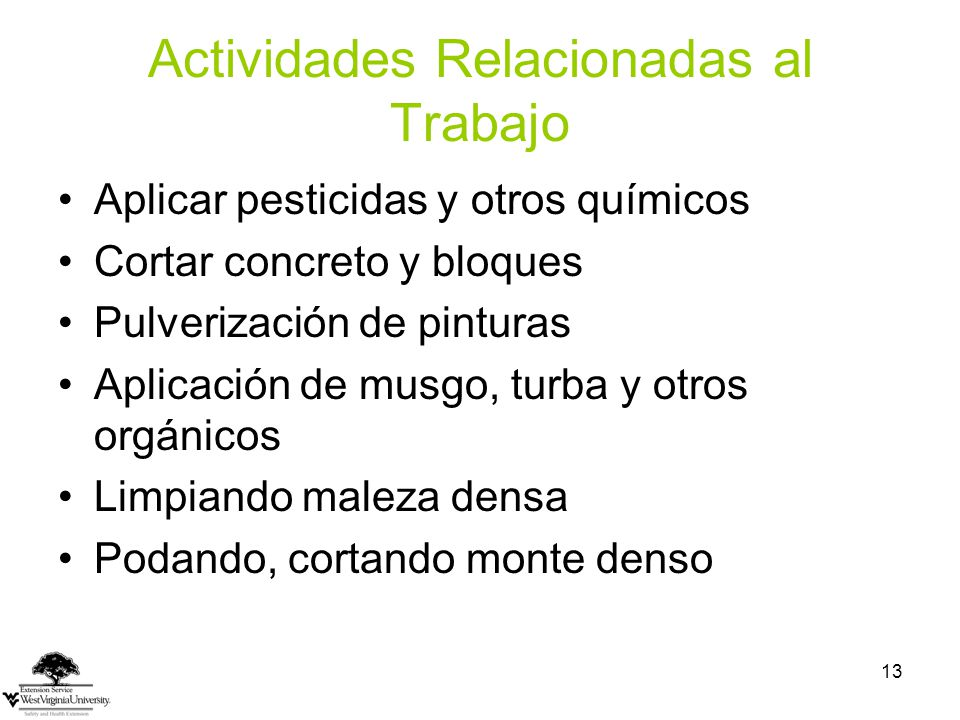 Actividades Relacionadas al Trabajo