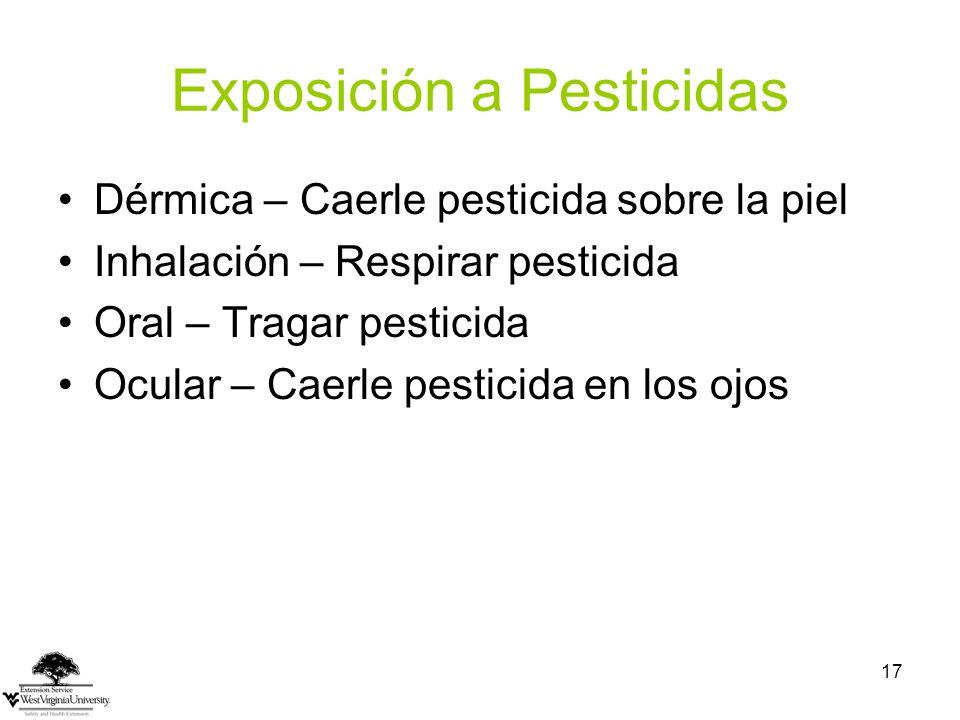 Exposición a Pesticidas