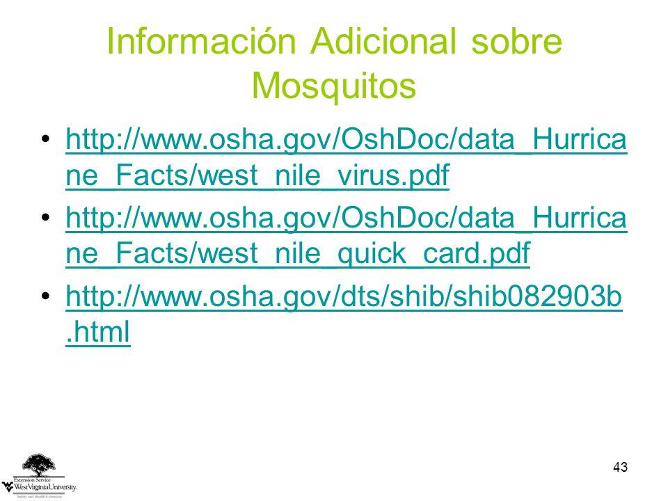 Información Adicional sobre Mosquitos