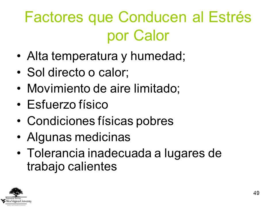Factores que Conducen al Estrés por Calor