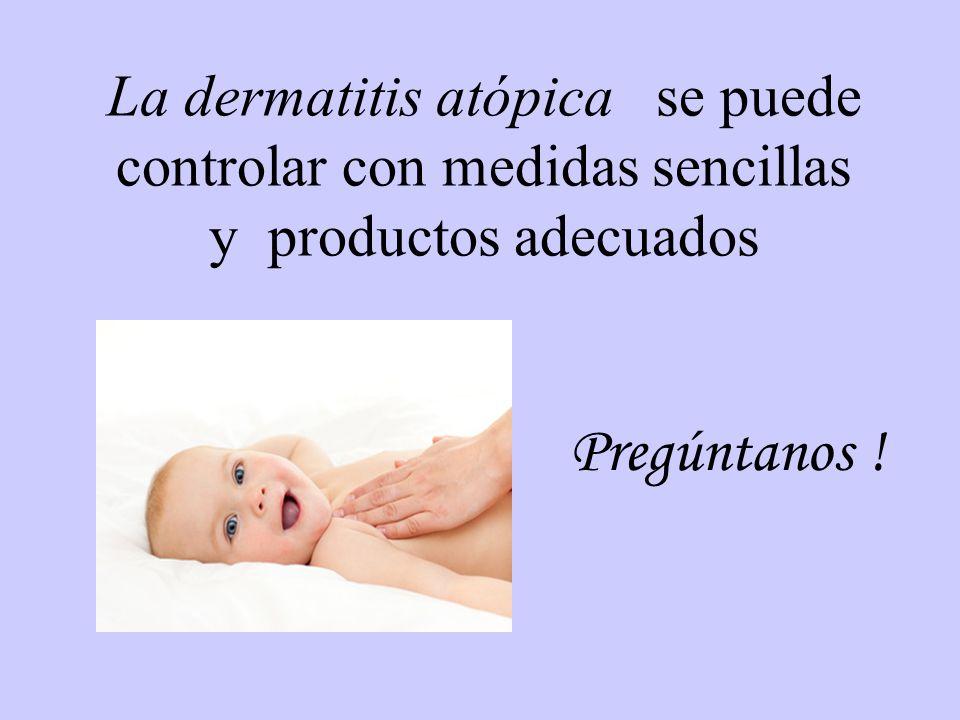 La dermatitis atópica se puede controlar con medidas sencillas y productos adecuados