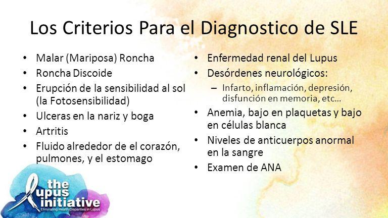Los Criterios Para el Diagnostico de SLE