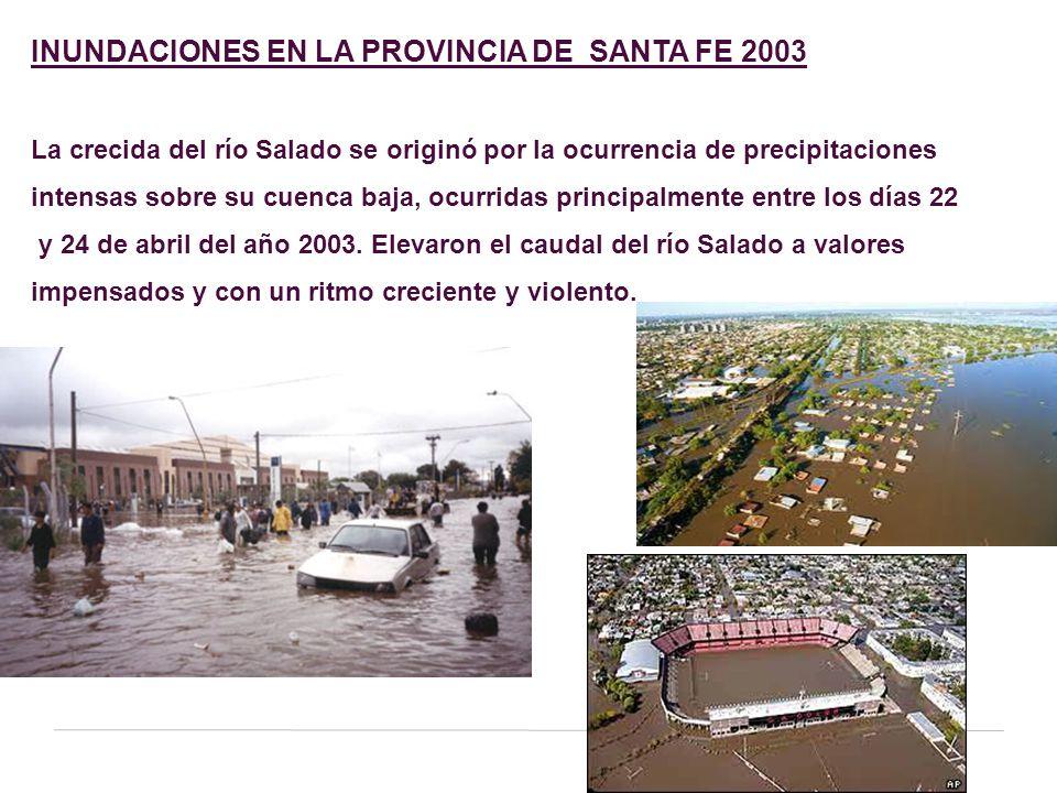 INUNDACIONES EN LA PROVINCIA DE SANTA FE 2003
