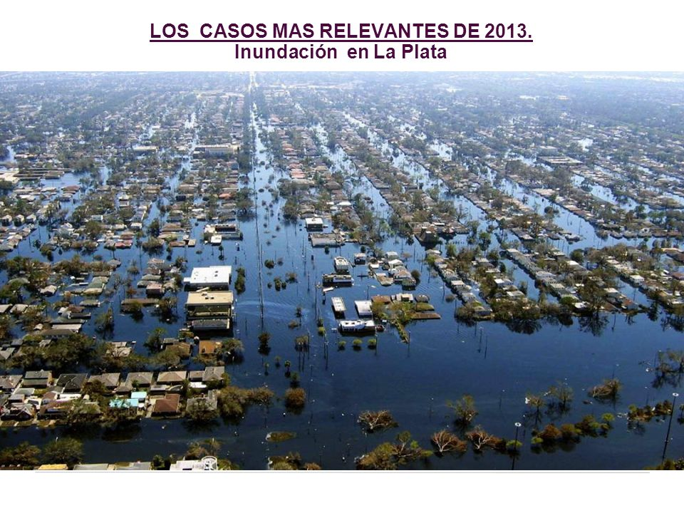 LOS CASOS MAS RELEVANTES DE 2013. Inundación en La Plata