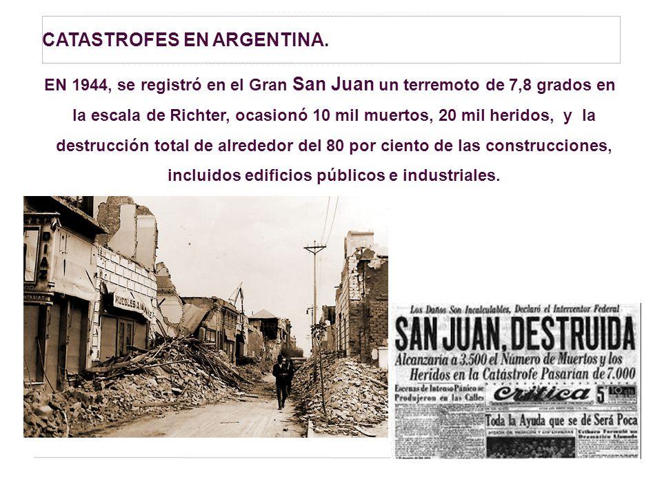 CATASTROFES EN ARGENTINA.