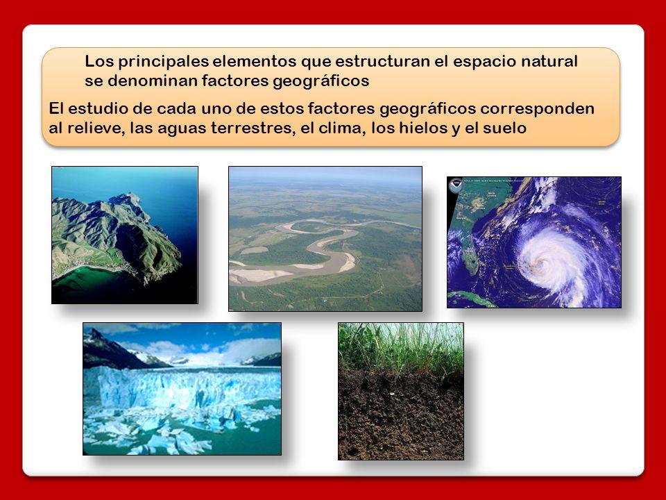 Los principales elementos que estructuran el espacio natural se denominan factores geográficos