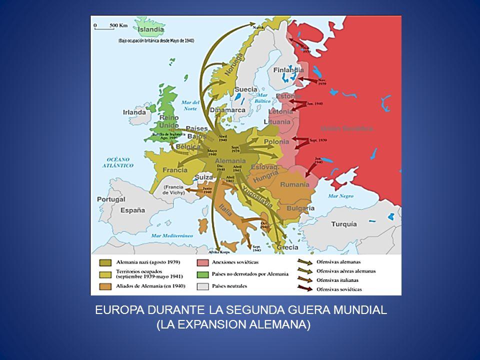 EUROPA DURANTE LA SEGUNDA GUERA MUNDIAL (LA EXPANSION ALEMANA)