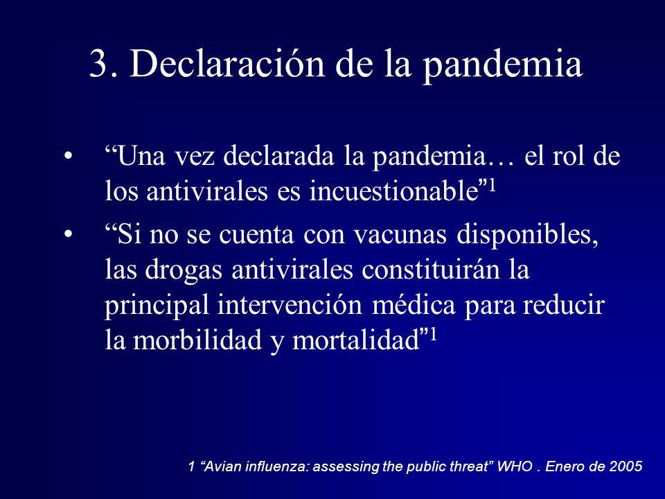 3. Declaración de la pandemia