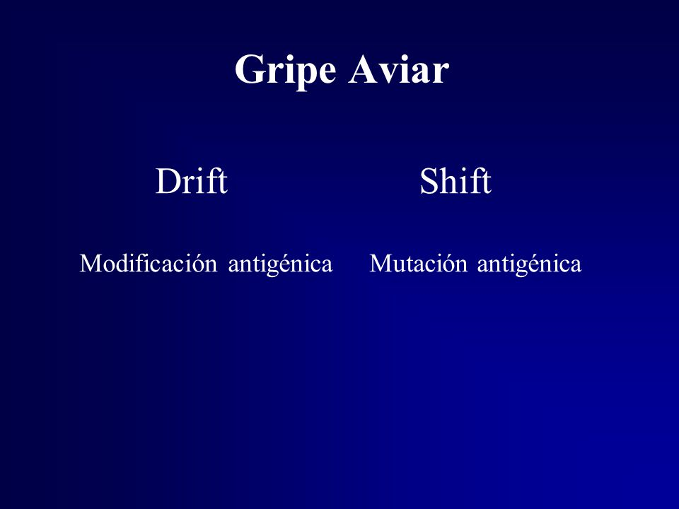 Gripe Aviar Drift Shift Modificación antigénica Mutación antigénica
