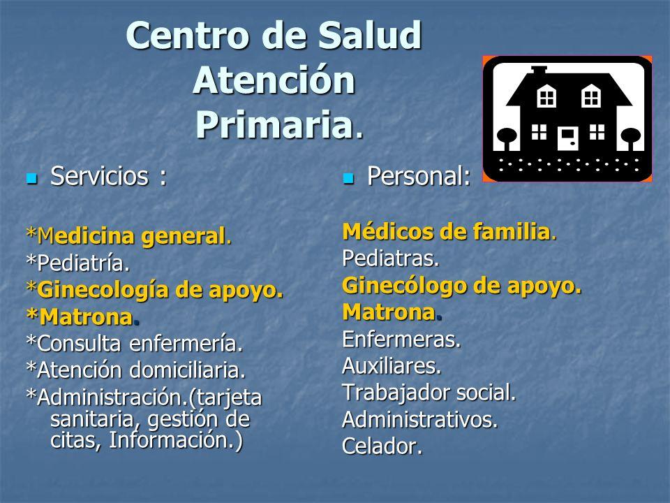 Centro de Salud Atención Primaria.