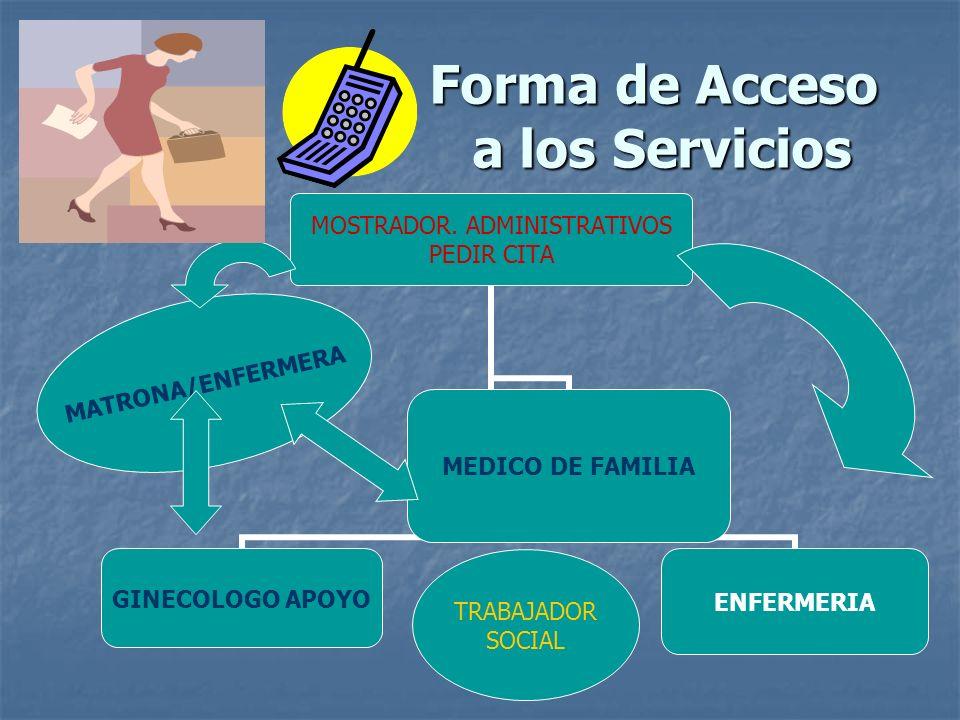 Forma de Acceso a los Servicios
