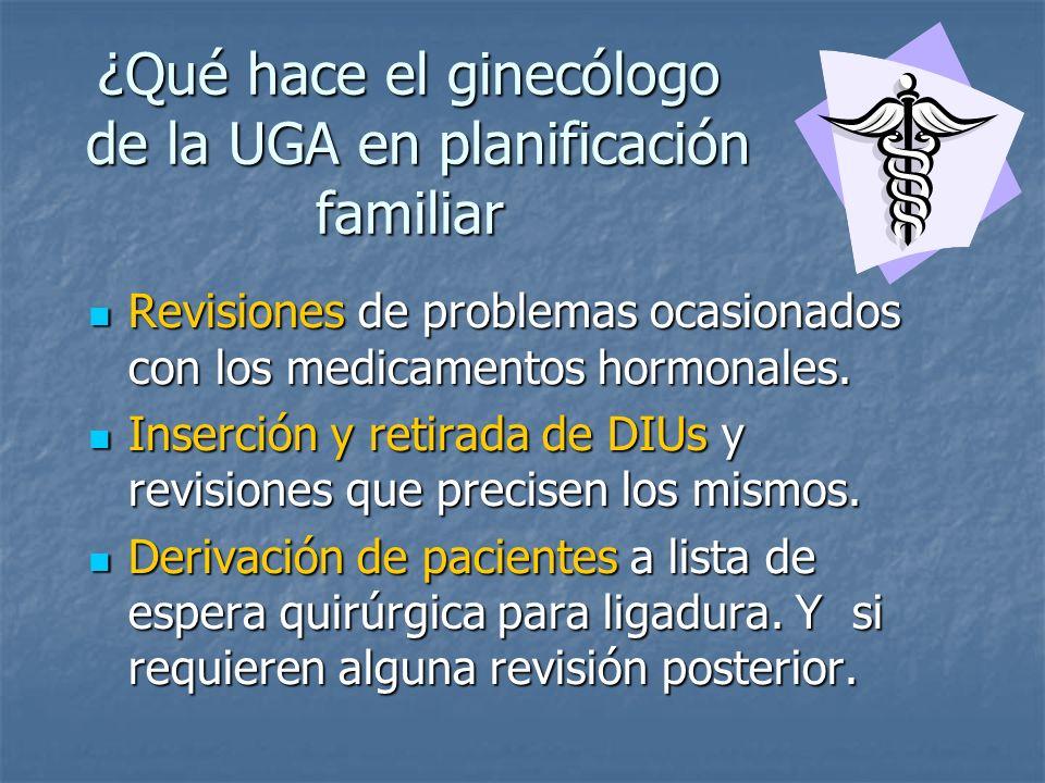 ¿Qué hace el ginecólogo de la UGA en planificación familiar