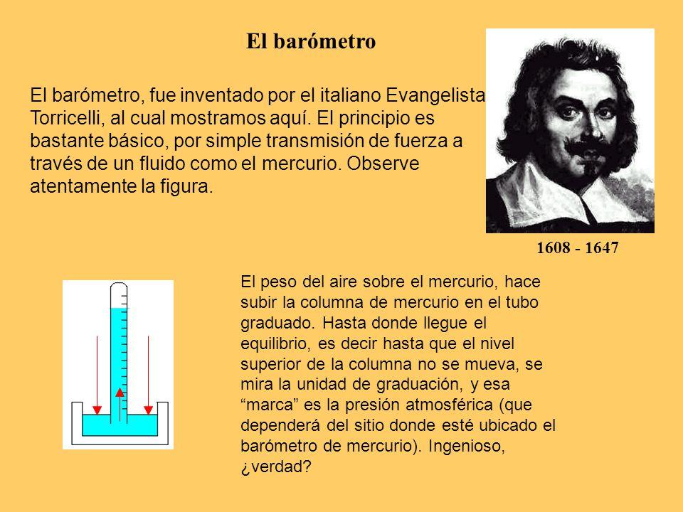 El barómetro 1608 - 1647.