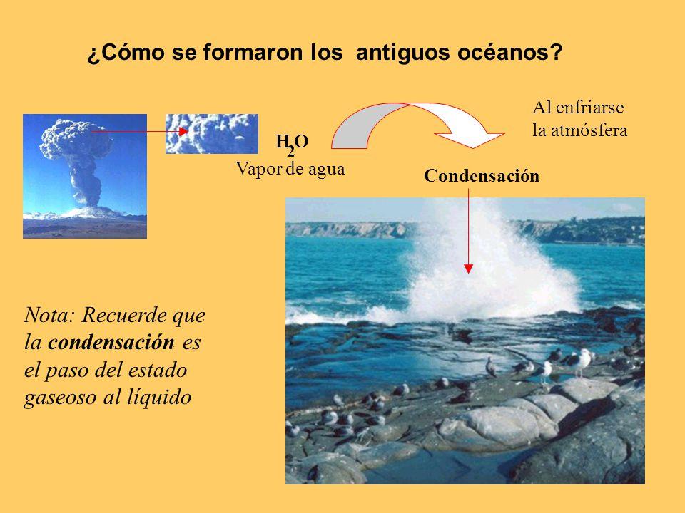 ¿Cómo se formaron los antiguos océanos