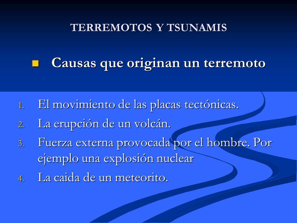 Causas que originan un terremoto