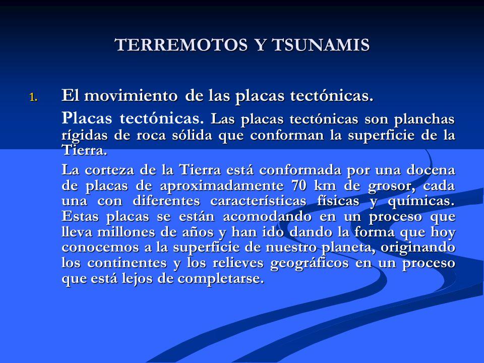 El movimiento de las placas tectónicas.