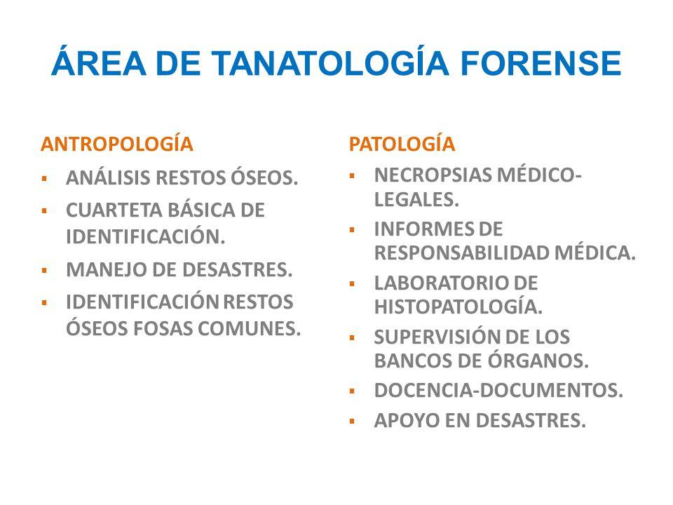 ÁREA DE TANATOLOGÍA FORENSE
