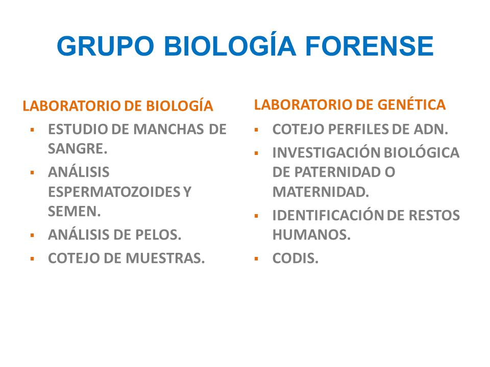 GRUPO BIOLOGÍA FORENSE