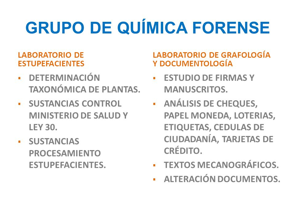 GRUPO DE QUÍMICA FORENSE