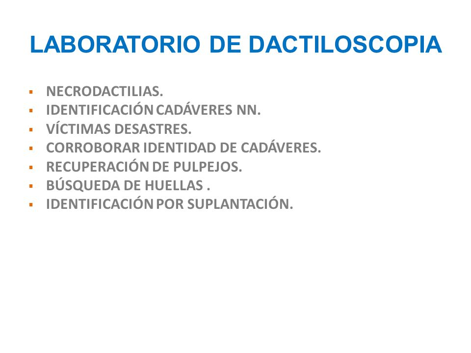 LABORATORIO DE DACTILOSCOPIA