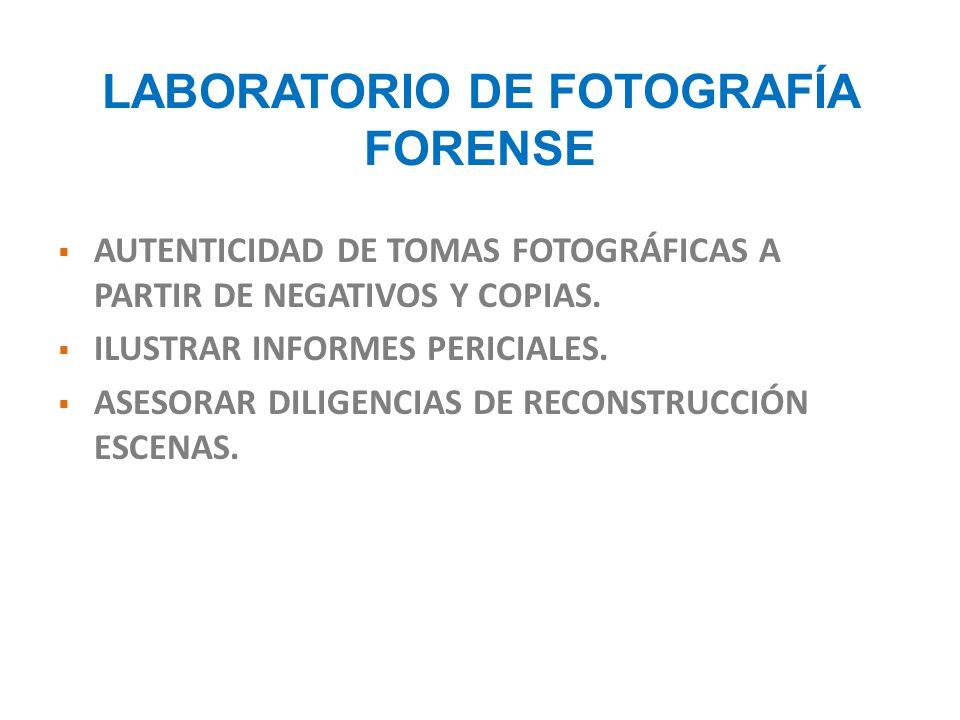 LABORATORIO DE FOTOGRAFÍA FORENSE