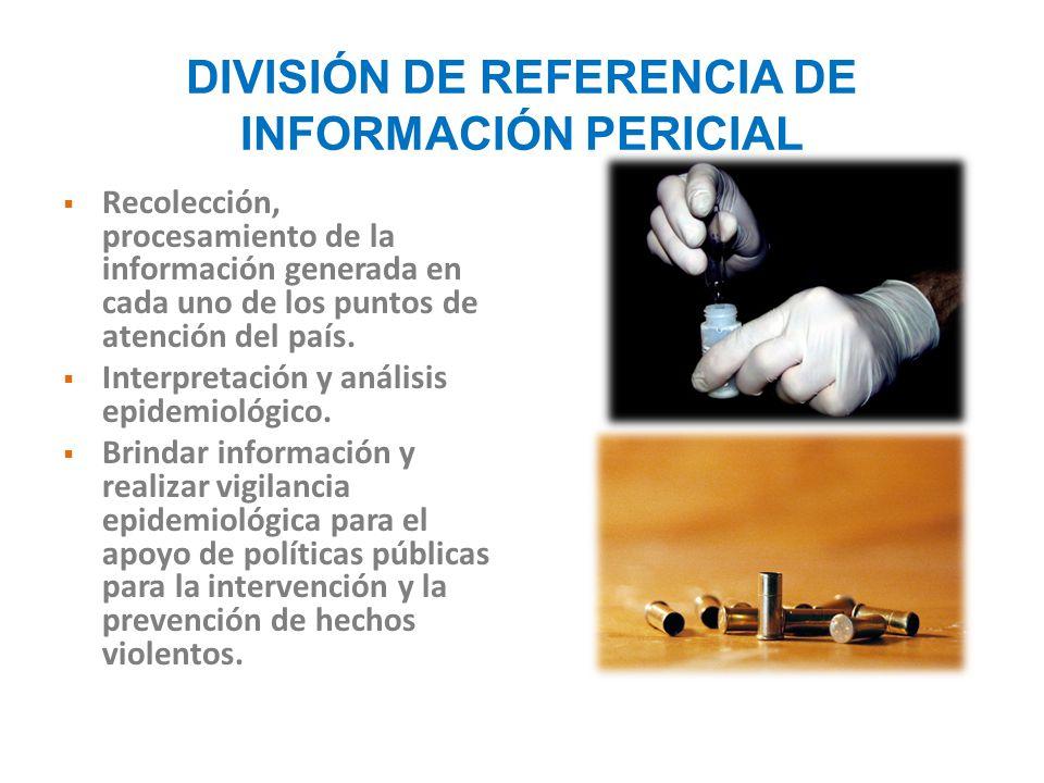 DIVISIÓN DE REFERENCIA DE INFORMACIÓN PERICIAL