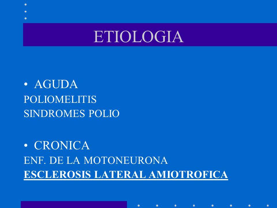 ETIOLOGIA AGUDA CRONICA POLIOMELITIS SINDROMES POLIO